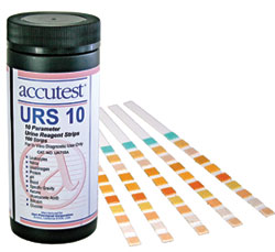 Exam Supplies: Accutest URS 10 Urine Regent Strips (100/bottle)